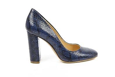 f796e905883 Versace 19.69 Abbigliamento Sportivo Milano ladies pump 30337 PITONE  STAMPATO BLU