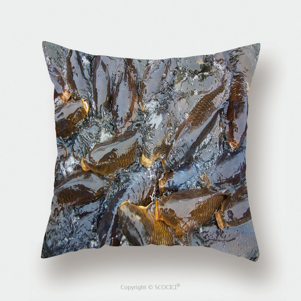 Custom Satin Pillowcase Protector Pond To Swim A Lot Of Carp 490593364 Pillow Case Covers Decorative by chaoran
