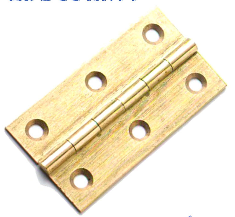2 PACK 2' 50mm SOLID BRASS DRAWN BUTT HINGES SC + SCREWS HARDLINE HARDWARE HG207