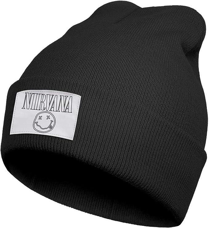 Black Nirvana beanie with white label