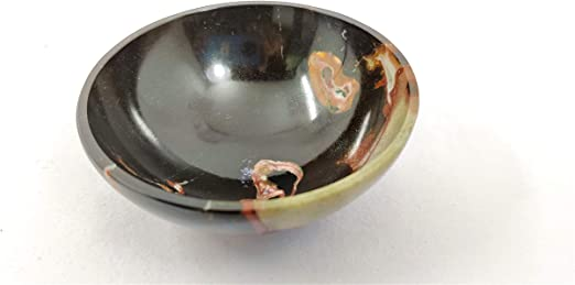 Red Jasper Hand Carved Bowl Tray Dish For Natural Stone Focus Spiritual Chakra