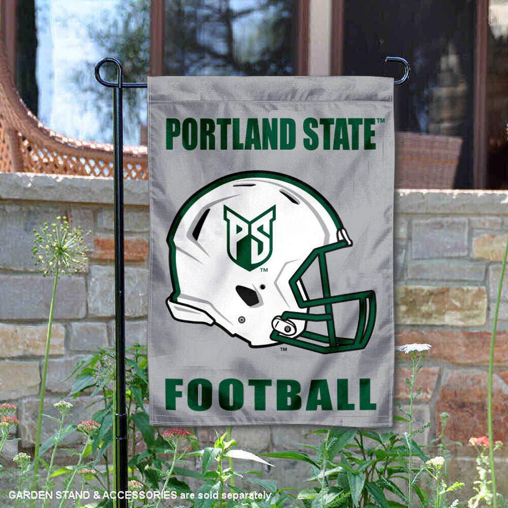 カレッジフラッグとバナーズ Co. ポートランド州立大学 フットボールヘルメット ガーデンフラッグ