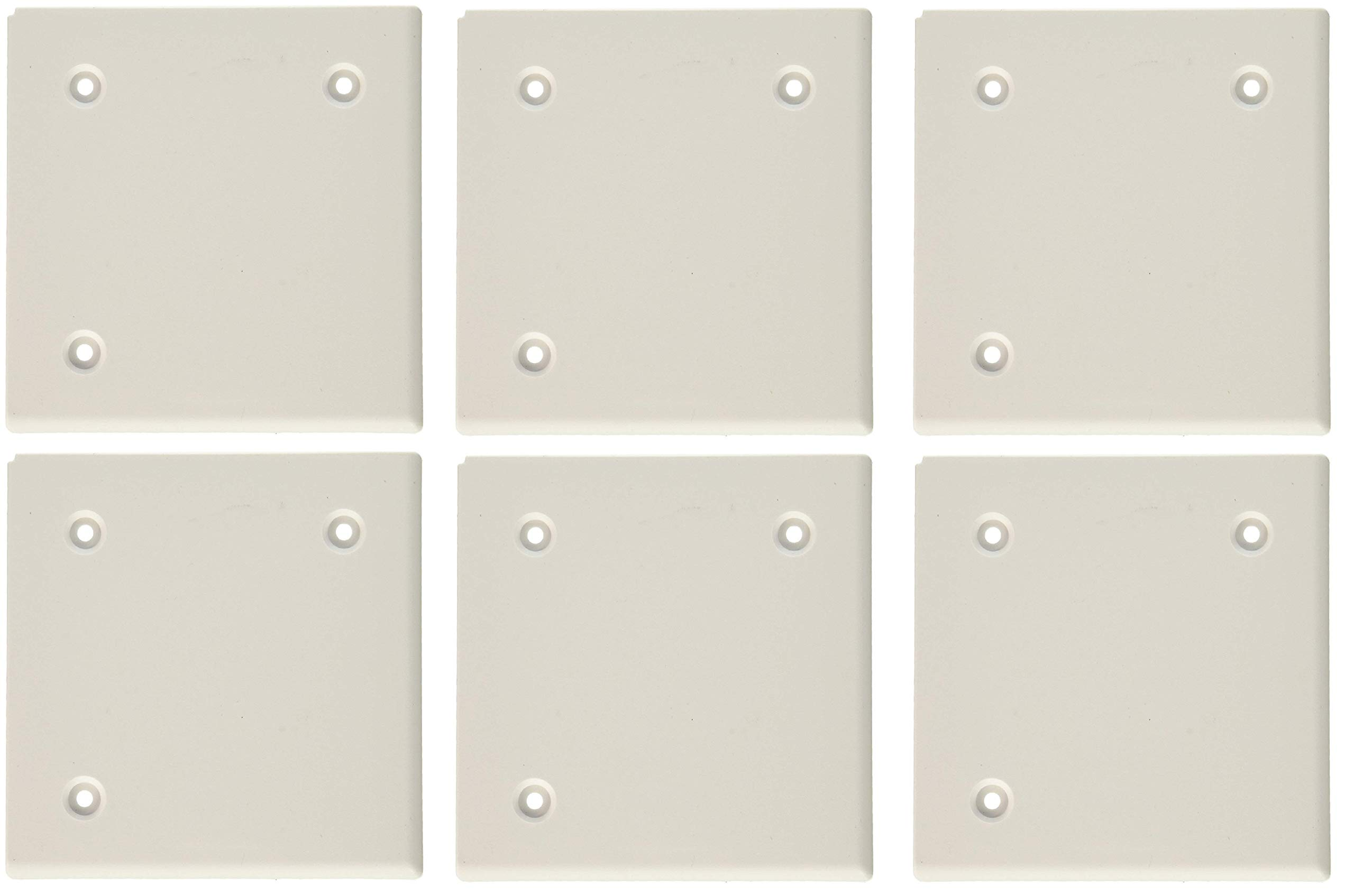 JR Products 547 Polar White 4-1/2'' Square Slide-Out Cap (6)