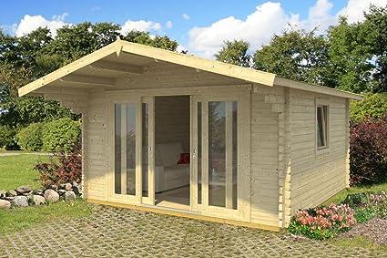 Jardín Casa G48 con soporte suelo – 44 mm listones hogar, superficie: 15,