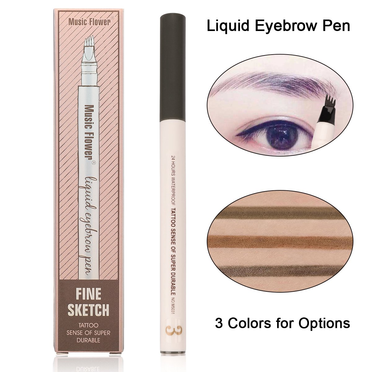 Amazon Eyebrow Pen Waterproof Microblading Eyebrow Pen Smudge