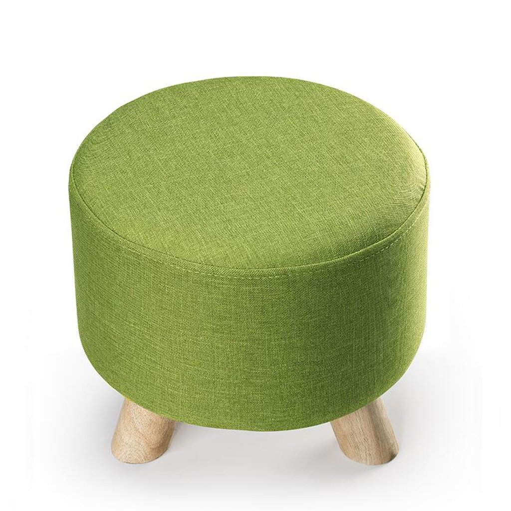 Rollsnownow Grass Green Round Three escabel Puede lavarse y lavarse Cambiar The Shoe Stool Cloth Sofa Stool