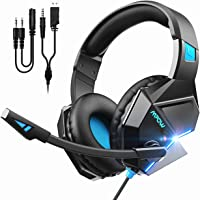 Mpow EG10 Gaming Headset (254g Lightweight Edition), PC PS4 Xbox One Headset, Wired Gaming Headphones with 3D Surround Sound, Noise Cancelling Mic, 50mm Drivers, Soft Material Gaming Headset