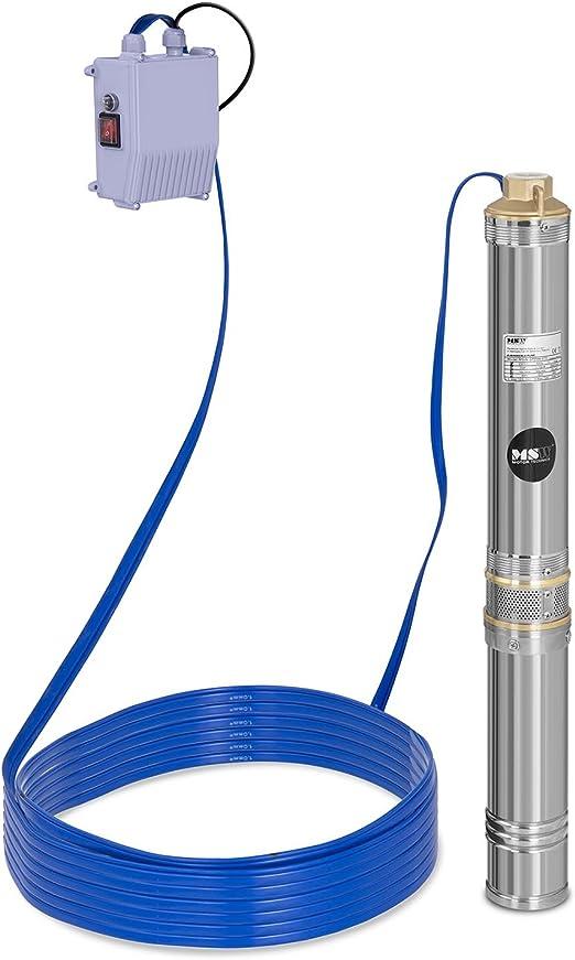 116m Chaneau Pompe De Puits Profond 220V 50Hz Pompe Submersible 116M Pompe /à Eau Profonde Pompe Puits Immergee 2850 RPM