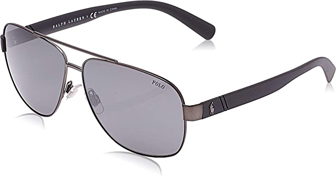 Ralph Lauren POLO 0PH3110 Gafas de sol, Demi Shiny Dark Gunmetal ...