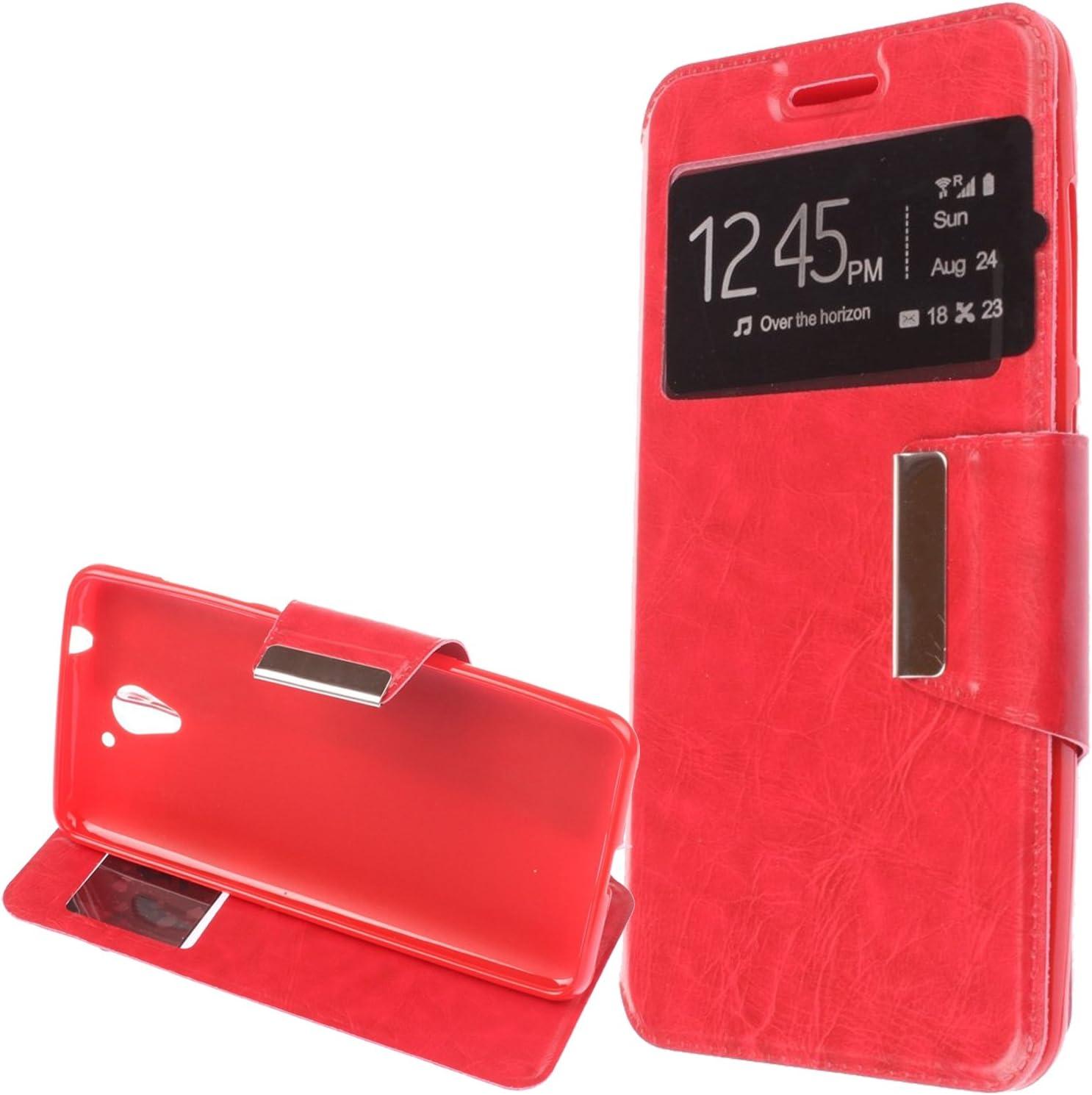 OVIphone Funda Con Tapa Libro Soporte Para ZTE BLADE L7(Color Rojo): Amazon.es: Electrónica
