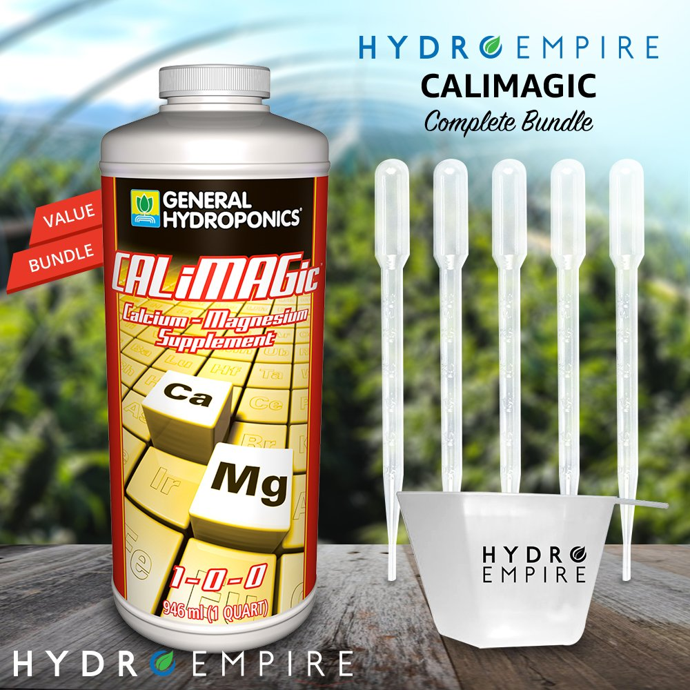 General Hydroponics CALiMAGic Quart - Cal Mag Organic Plant Supplement - Calcium Magnesium Nutrient for Hydroponic, Helps Blossom End Rot with Bonus 5 Pipettes and Hydro Empire 4oz Measuring Cup Kit by Hydro Empire (Image #4)