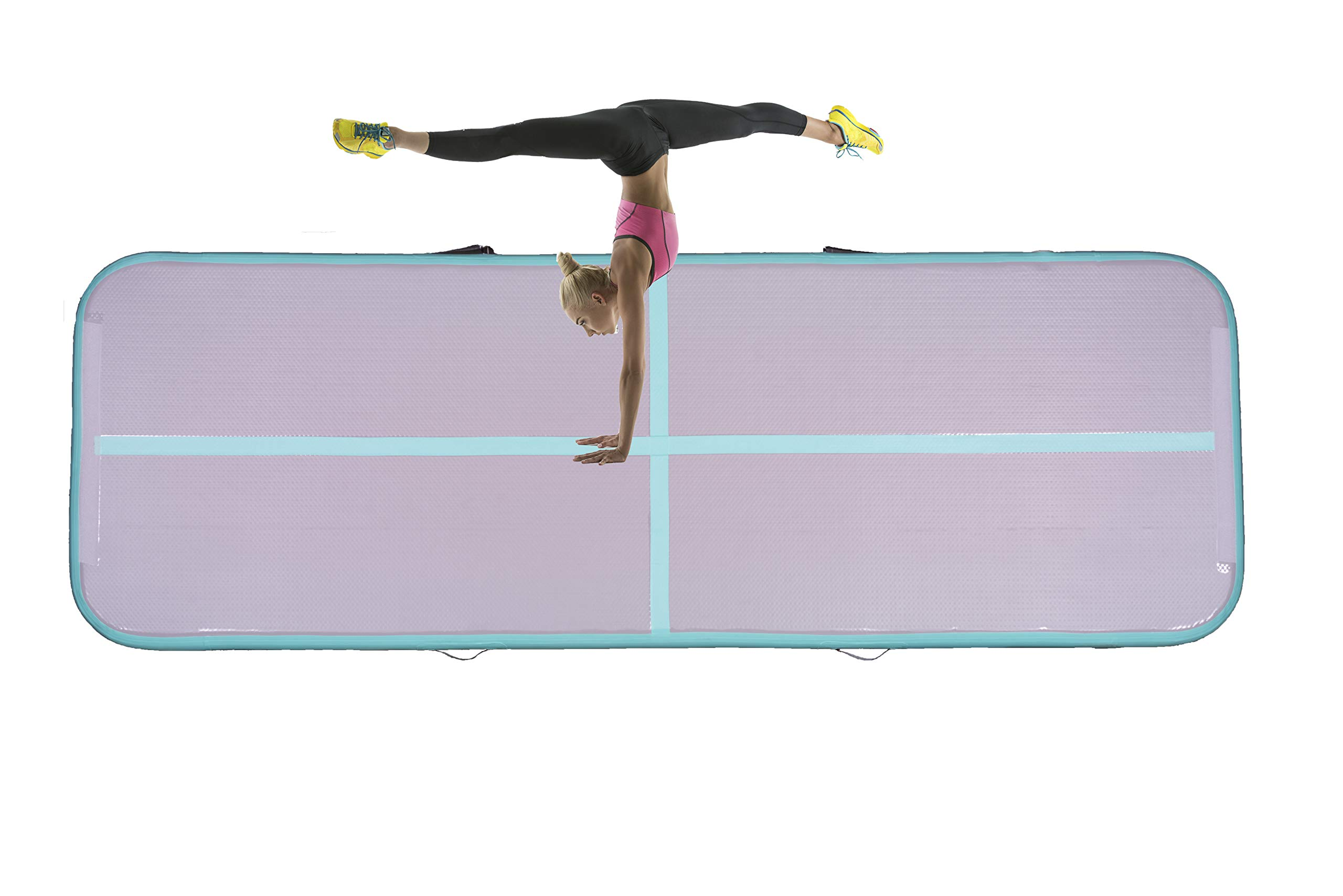 Gymeden Multi-Function extensible Airtrack Tumbling mat Kid Gymnastics mat Inflatable Gymnastics air Track air Tumble Track for Gymnastics Gym mats for Kids Taekwondo Dancing,Parkour,Yoga,Tumbling by Gymeden (Image #3)
