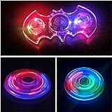 EBLINK Hand Spinner Fidget Toy, LED Light Spinner Fidget Jouet Tri Fidget Spinner Finger pour Adultes Enfants ( Cristal Transparent) (Bat)