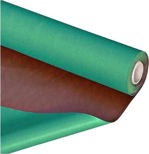 emmevi sintética Piel sintética Tejido Marrón Double Verde ...