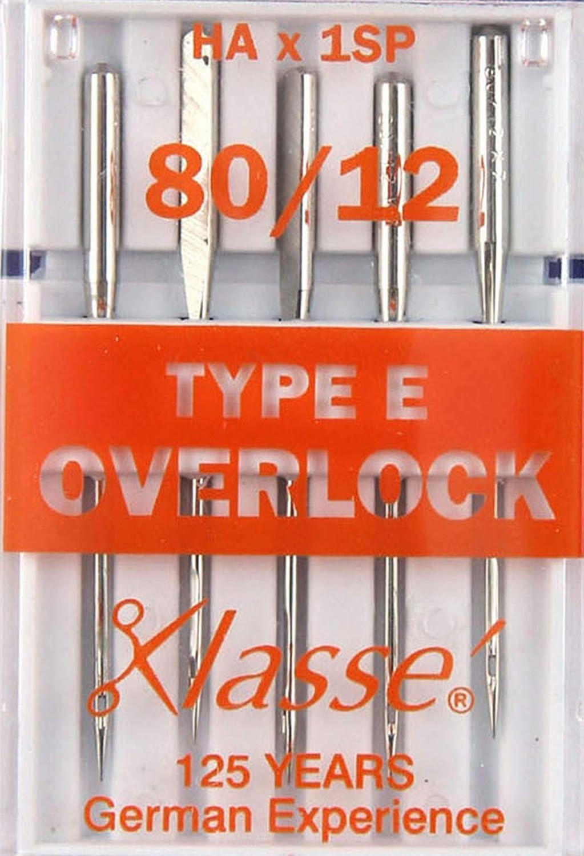 E Overlocker//Serger 5x 80//12 Hemline H107.E Med Overlocker Machine Needles