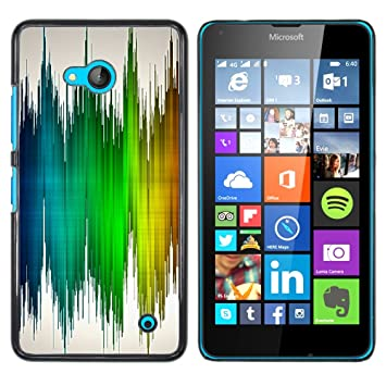 For Nokia Lumia 640 Case Zig Zag Colored Wallpaper Amazon