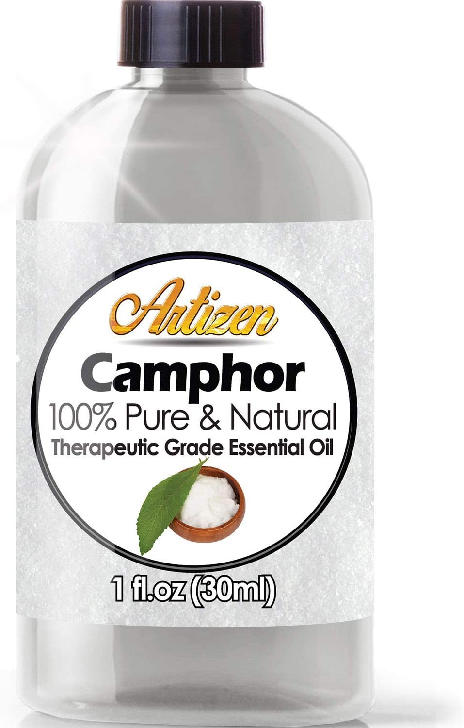 Artizen Camphor Essential Oil (100% PURE & NATURAL - UNDILUTED) Therapeutic Grade - Huge 1oz Bottle - Perfect for Aromatherapy, Relaxation, Skin Therapy & More!