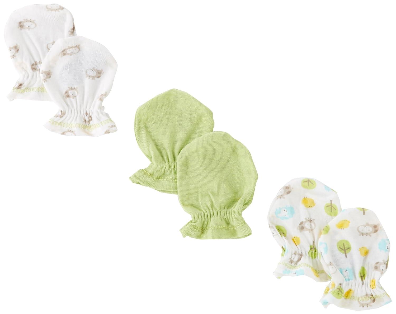 Gerber Unisex-Baby Newborn 3 Pack Hippo Mitten Hippo Green 0-3 Months Gerber Children' s Apparel 70853316AN1403M
