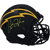 $379 » Justin Herbert Los Angeles Chargers Autographed Riddell Eclipse Alternate Speed Replica Helmet - Fanatics Authentic Certified