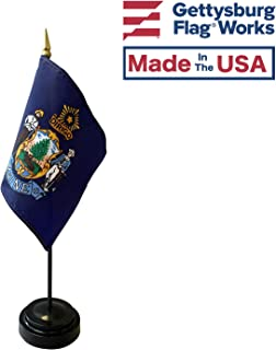 product image for 4x6 E-Gloss Maine Stick Flag with Plastic Table Base - Qty 24