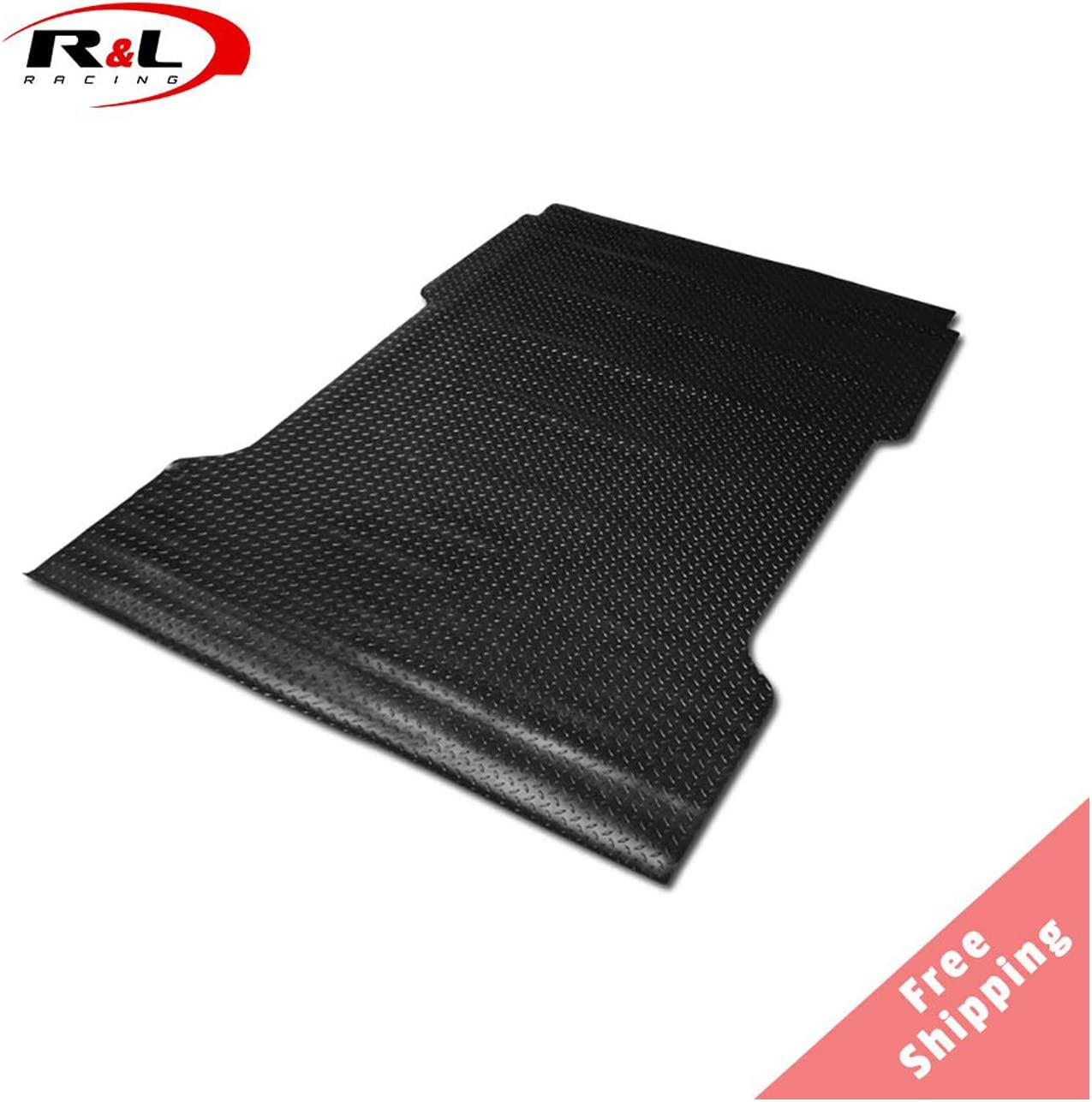 F250 97-03 Black Finished Diamond Rubber Floor Mat Carpet Flareside 6.5 Ft Short Bed R/&L Racing Truck Bed Mat Compatible with F150