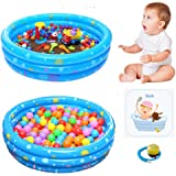 Wotryit PVC Dog Pet Bath Pool Inflatable Dog Pet Pool Bathing Tub Kiddie Pool for Dogs Cats and Kids (39.4×15.7in)