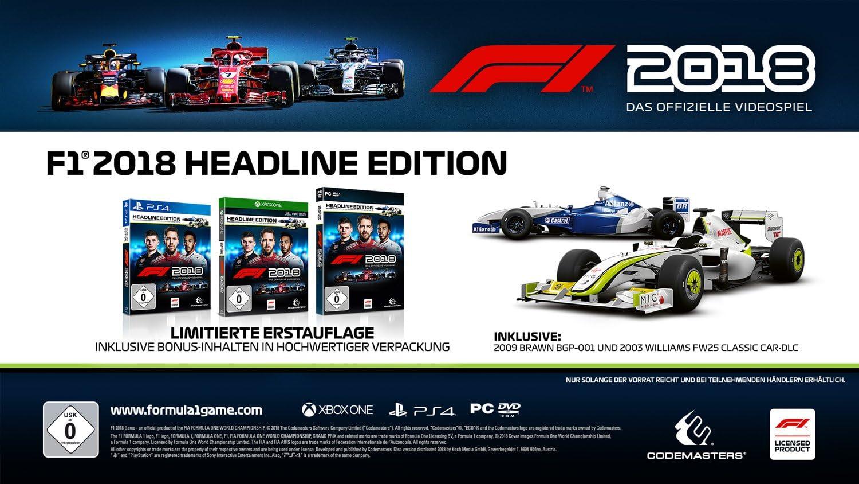 F1 2018 Headline Edition (PlayStation PS4): Amazon.es: Videojuegos