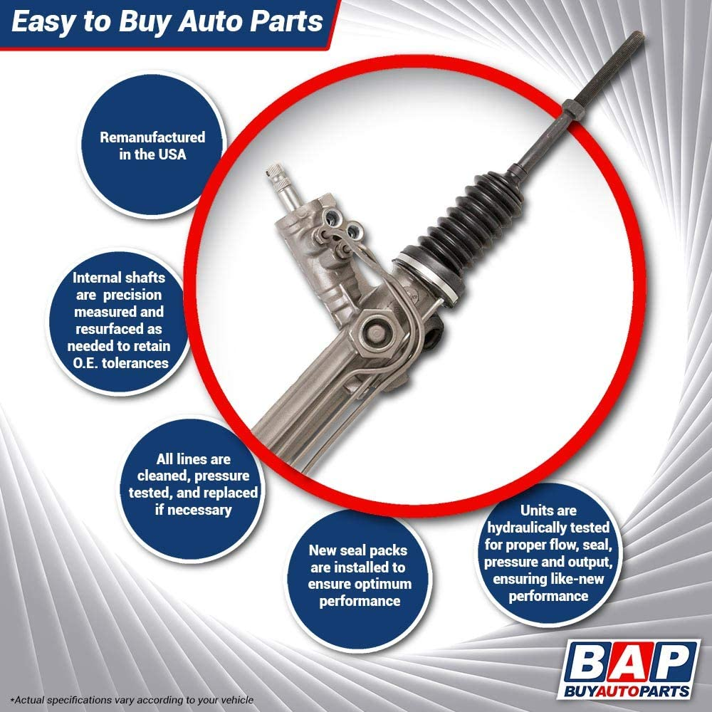 For Chevy /& GMC Full-Size Truck /& SUV Power Steering Rack And Pinion BuyAutoParts 80-00406R Remanufactured