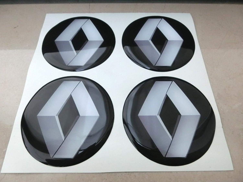 GTB Tuning - 4 adhesivos resinados con efecto 3D, 3M de 50 mm, color negro, para llantas de aleación y tapacubos: Amazon.es: Coche y moto