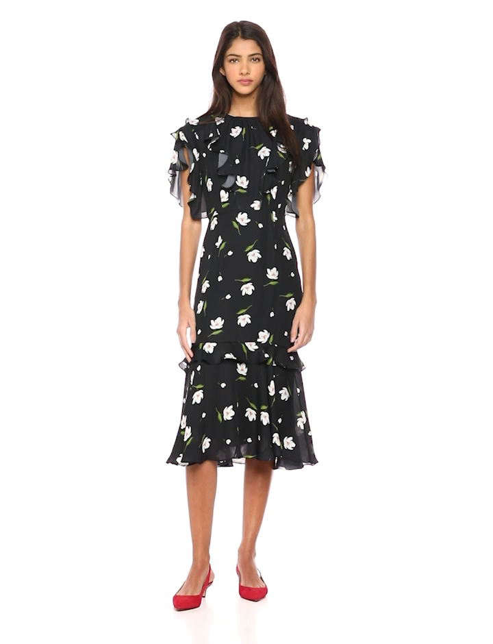 2f7732b3db6 Amazon.com  MILLY Women s Floral Print on Georgette Short Gia Dress   Clothing