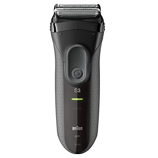 Braun Series 3 ProSkin 3000s Rechargeable Electric Shaver for Men, Black