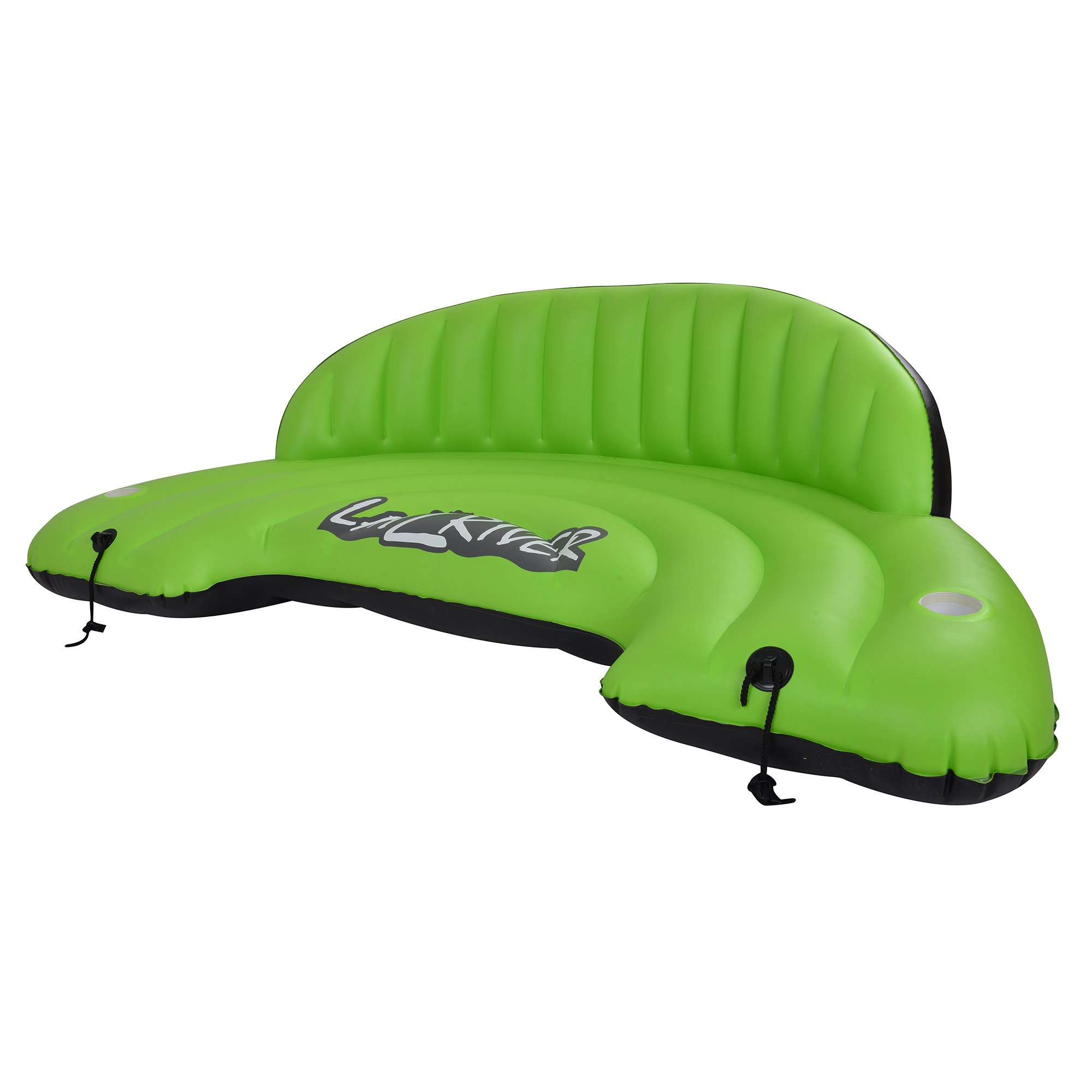 Blue Wave Sports Lay-Z-River Inflatable Sofa, Green/Black