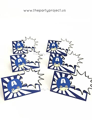 12 Captain America Place Cards
