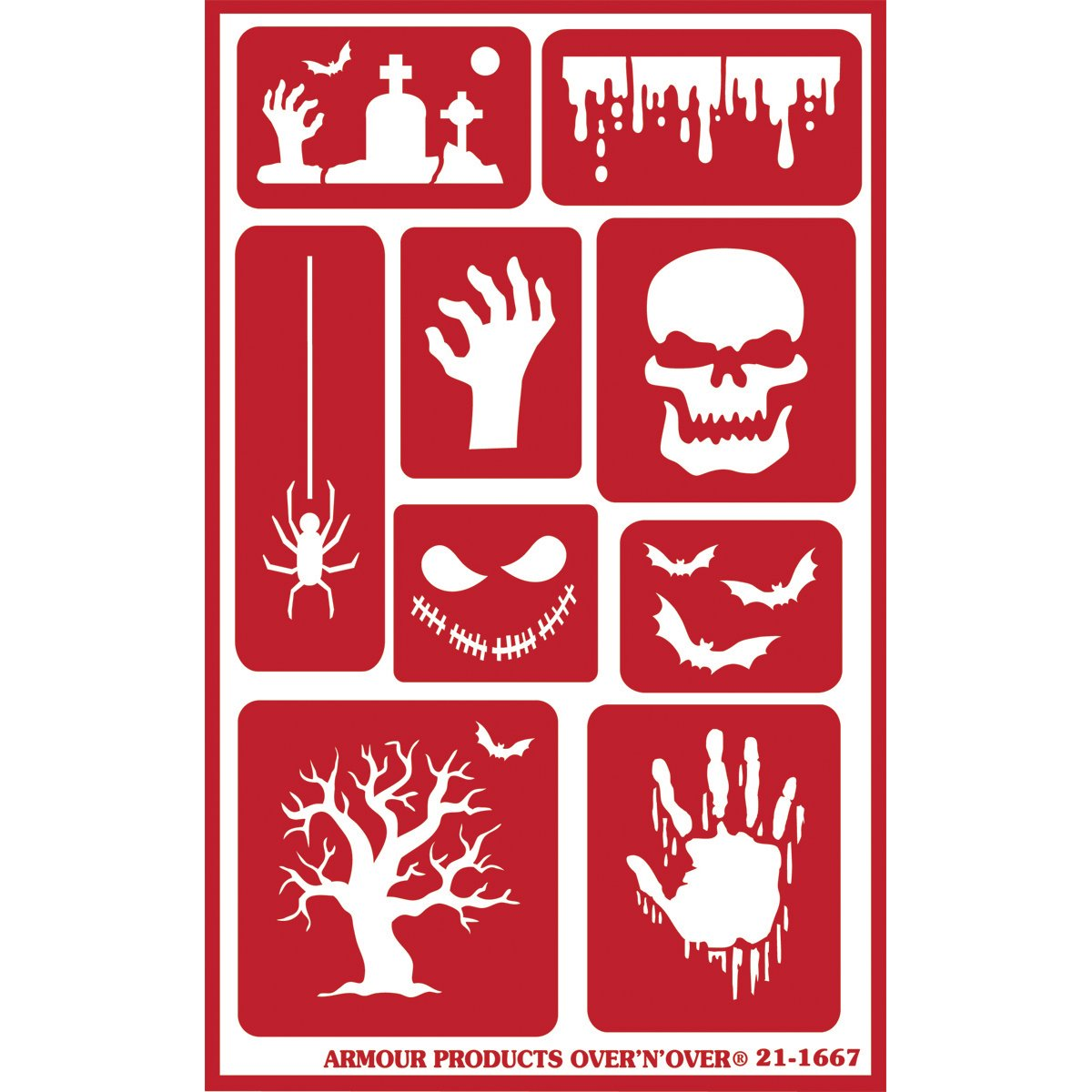 Armour Over 'N' Over Reusable Stencils 5'X8'-Halloween Armour Products 43282396