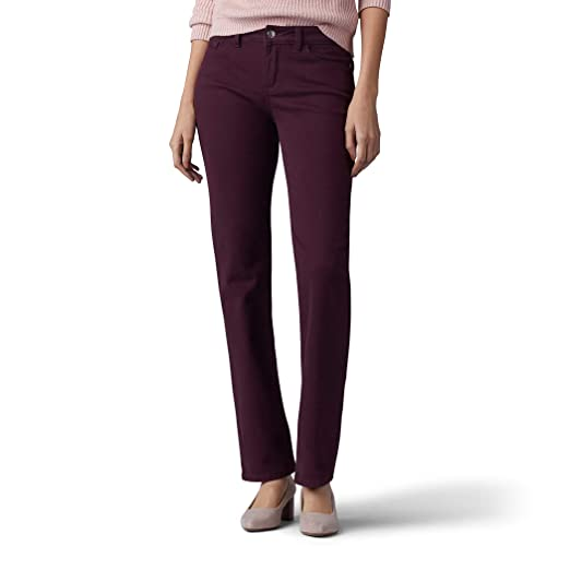 LEE Womens Secretly Shapes Regular Fit Straight Leg Jean, Raisin ...