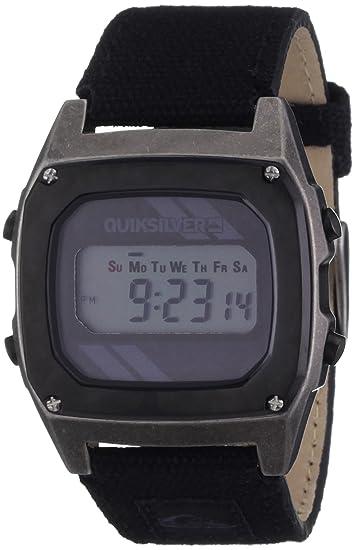 Quiksilver M166DW-18T - Reloj digital para hombre con correa de piel, color negro: Amazon.es: Relojes