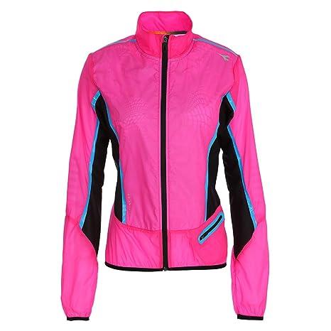 Diadora Giacca Medium Da Jacket Donna Rosa wind L Running Fluo rqwatrf