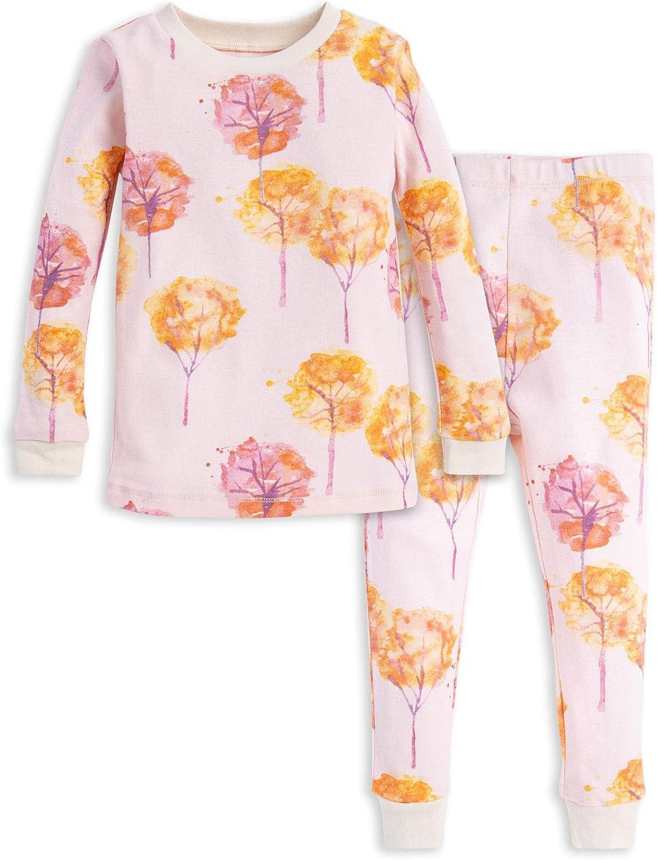 Burts Bees Baby Baby Girls Pajamas 100/% Organic Cotton Tee and Pant 2-Piece Pj Set