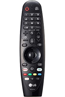 LG Magic Control AN-MR18BA - Mando a Distancia (Reconocimiento de Voz, apunta y navega, Rueda de Scroll, Botones Netflix y Amazon, Teclado numérico) Color Negro: BLOCK: Amazon.es: Electrónica