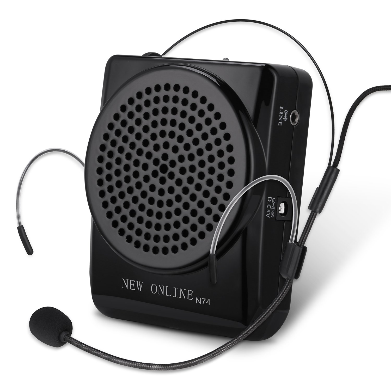 YOHOOLYO Mini Amplificatore Altoparlante di Voce da Cintura Ricaricabili Portatile 20W Speaker con Microfono Auricolare Regolabile per Insegnanti, Guide Turistiche, e Coach gohappybuy