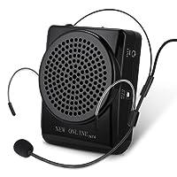 YOHOOLYO Mini Amplificatore Altoparlante di Voce da Cintura Ricaricabili Portatile 20W Speaker con Microfono Auricolare Regolabile per Insegnanti, Guide Turistiche, e Coach