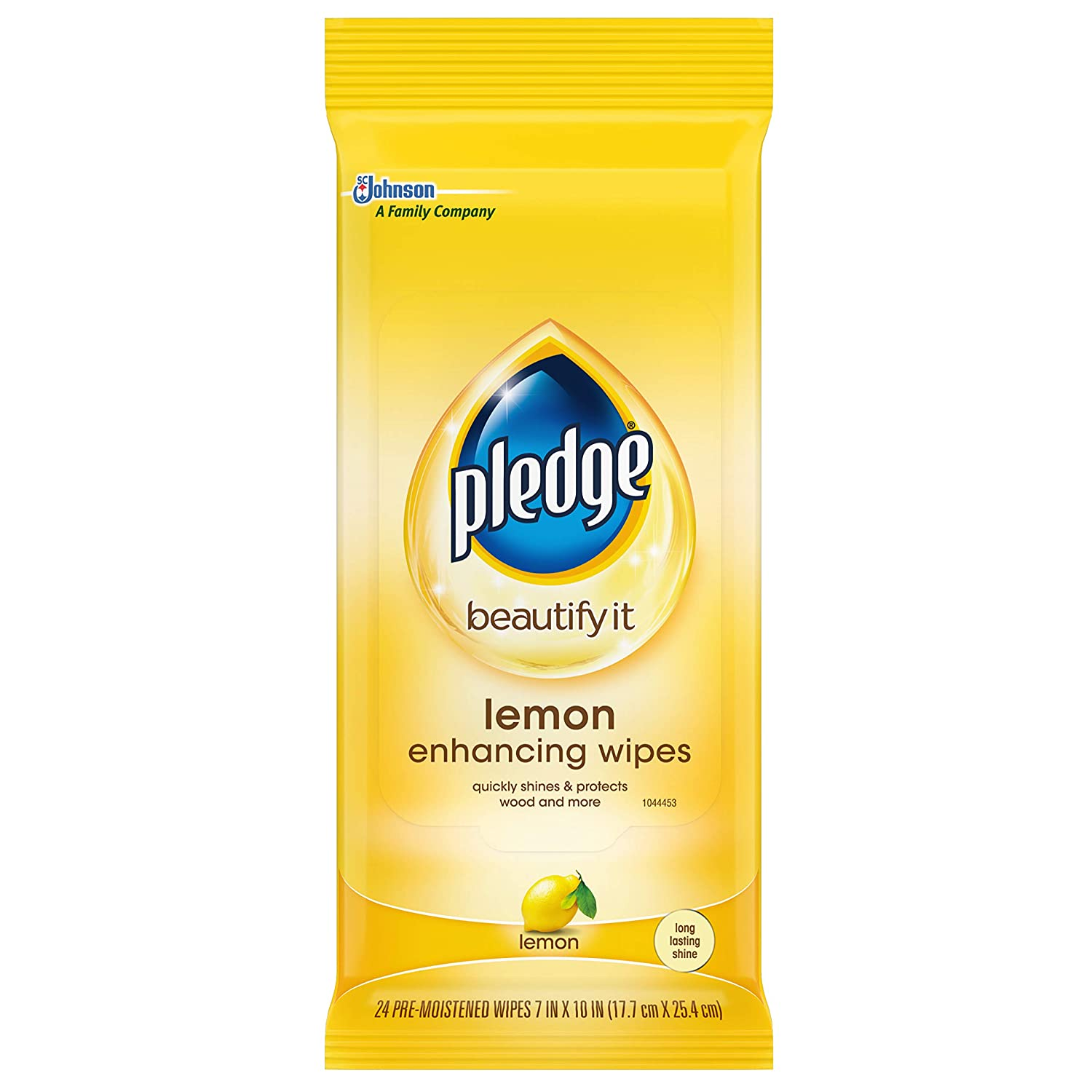 Pledge Lemon Enhancing Wipes 24 ct