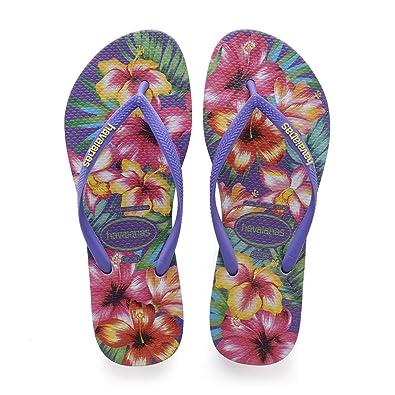 dbe1bbf7 Havaianas Women's Slim Hibisco Flip Flops: Amazon.co.uk: Shoes & Bags