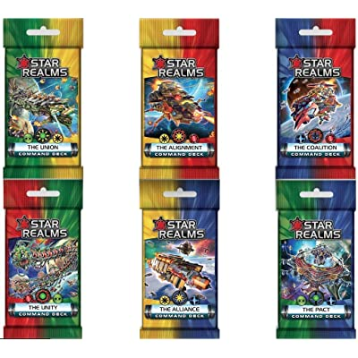 Star Realms: The Alignment, Alliance, Coalition, Pact, Union, Unity Command Deck Set: Toys & Games [5Bkhe0503409]