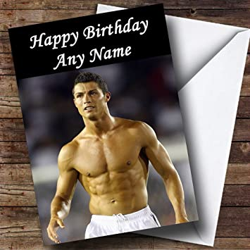 Personalised Ronaldo Topless Birthday Card Amazon Office