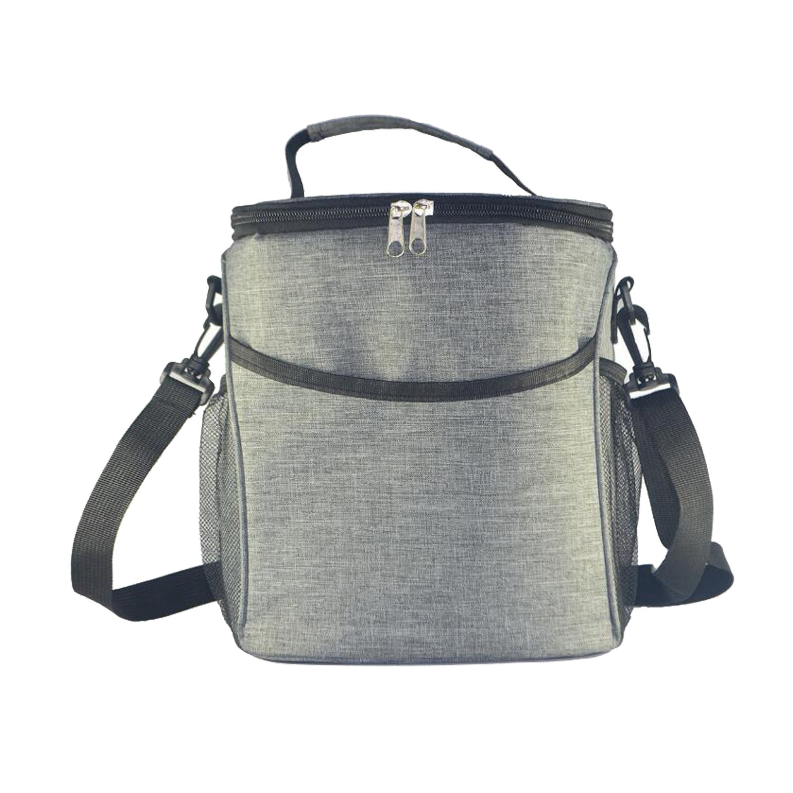 Evispo Insulated Lunch Box Lunch Bag for Men Women, Thermal Bento Bag, Leakproof Waterproof Cooler Bag for Office/School/Picnic, 9L, Grey