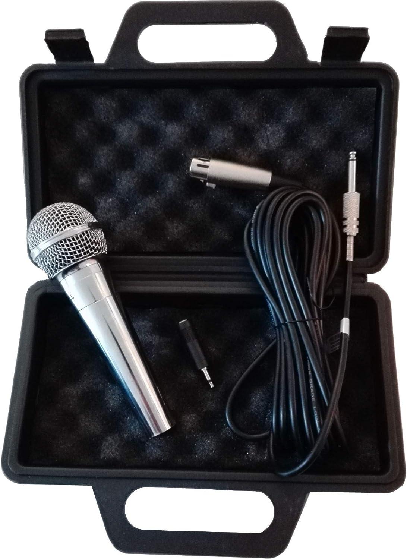 TronicXL - Micrófono dinámico para cantar y para escenario, incluye maletín y cable de 5 m: Amazon.es: Instrumentos musicales