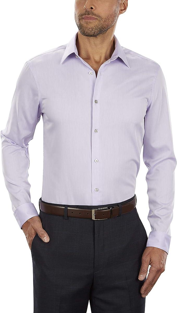 Calvin Klein 卡尔文克莱因 CK 修身款 免熨 男式长袖衬衫 3.7折$27.96 海淘转运到手约¥211