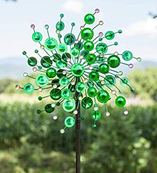 Colourful Bright Green Irish Lucky 4 Leaf Clover Wind Chime Home Garden Ornament
