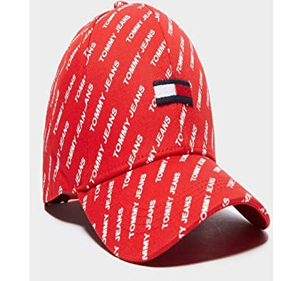 Image Unavailable. Image not available for. Colour  Tommy Jeans Printed  Flag Cap Adjustable 29a663ec10
